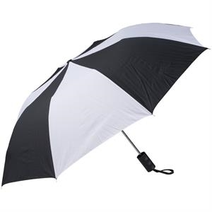 "Black-white - Personal Pop-up Umbrella, 42"", Folds To 14"""