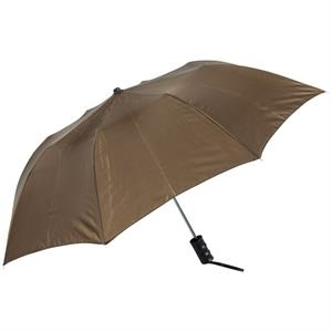 "Brown - Personal Pop-up Umbrella, 42"", Folds To 14"""