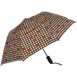 Confetti - Folding Double Canopy Stock Umbrella With Decorative Pattern