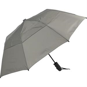 "Urbanite (tm) - Gray - Automatic Open 44"" Wind Vented Folding Umbrella"