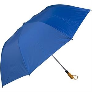"Royal Blue - 58"" Folding Golf Umbrella With Automatic Open"