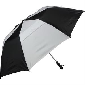 The Professional 345 (tm) - Black-white - Folding Golf Umbrella, Folds To 22""