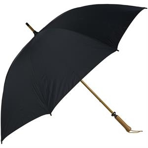 Eagle (tm) - Black - Classic Golf Size Umbrella With Wooden Shaft