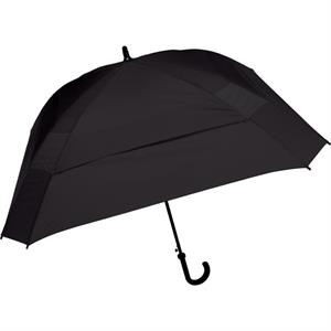 "The Concierge - Black - Classic Square Umbrella, 62"" Of Coverage To Comfortably Keep Two People Dry"