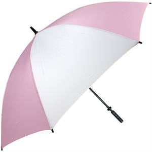 Pro-line (tm) - Pink-white - Single Canopy Golf Umbrella With Black Braided Fiberglass Shaft, 62""