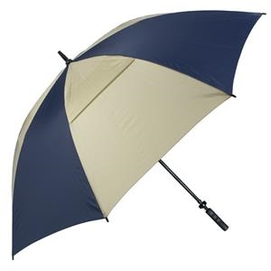 "Hurricane 345 (r) Tour Plus - Navy-tan - Golf Umbrella With A 62"" Arc And Wind-vents"