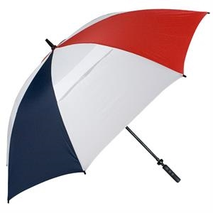 "Hurricane 345 (r) Tour Plus - Red-white-navy - Golf Umbrella With A 68"" Arc And Wind-vents"