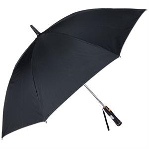 "Breeze (r) - Black - 60"" Golf Umbrella With Internal Plastic Fan"