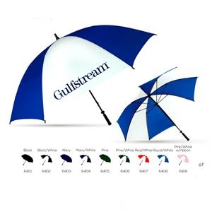 Albatross - Pine-white - Golf Umbrella With Larger Canopy, Black Braided Fiberglass Shaft