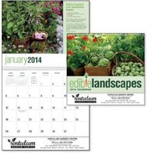 Edible Landscapes Goingreen (r) - 2015 Calendar Features Landscaping Tips With Vegetables, Fruits And More