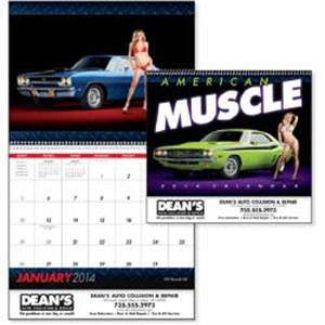 American Muscle - 2015 Calendar Features Pristine Muscle Cars Along With Beautiful Women