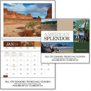 American Splendor - 2015 Calendar. 12 Beautiful Photographs And A Convenient Storage Pocket Each Month