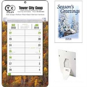 Full Color Bi-weekly 2015 Calendar With A Sturdy Wall Mount Board