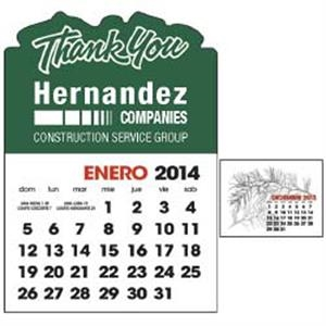 Spanish 2-color Stick Up 2015 Calendar (13-month)