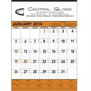 Orange And Black 13-sheet Contractor 2015 Memo Calendar