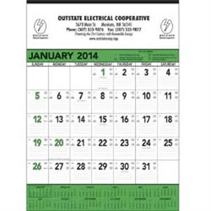 Green And Black 13-sheet Contractor 2015 Memo Calendar