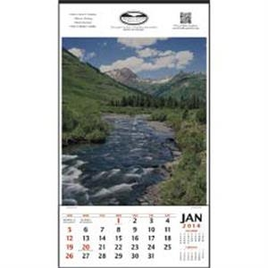 Vertical Hanging 2015 Calendar Without Date Blocks