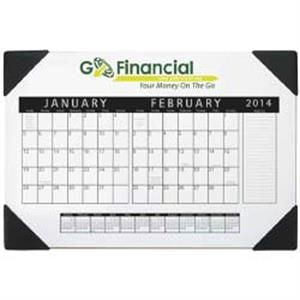 Nuvo (tm) - 2015 Desk Calendar With 2 Months Per Sheet And Span A Year Along Bottom