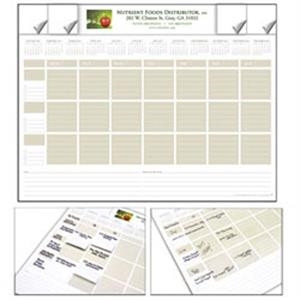 Nuvo (tm) - Adhesive Note Desk Pad 2015 Calendar. Use For Daily, Team Or Project Scheduling