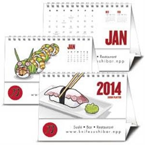 Sushi Platter - 2015 Tent Style Calendar With Culinary Art Of Sushi