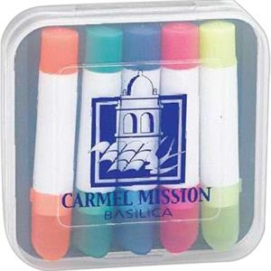 Cray-liters - Five-pack Highlighter. Imprinted