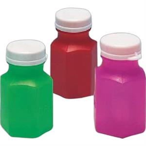 "Mini Bubbles Assorted Bottle Colors - Bubbles In 2"" Miniature Bottle. Imprinted"