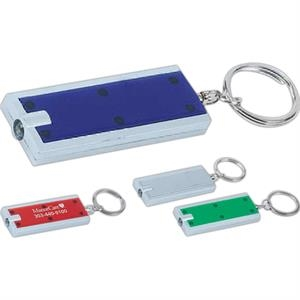 "Light Up Key Chain, 2 1/4"" X 7/8"". Imprinted"