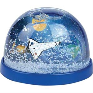 Space Theme - Plastic Snow Globes. Imprinted