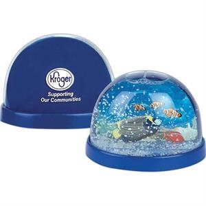 Aquarium - Plastic Snow Globes. Imprinted