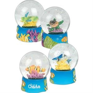 Aquarium - Glass Snow Globes. Imprinted