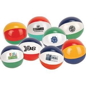 "6"" Multi-colored Mini Beach Ball. Imprinted"