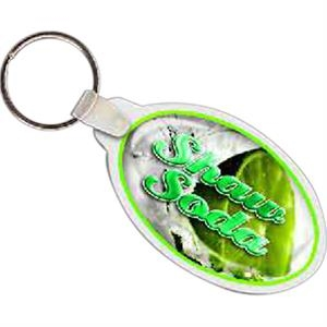"2.87"" X 1.64"" - Oval Shaped Key Tag"