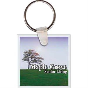 "1.625"" X 1.625"" - Square Shaped Key Tag"