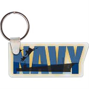 "Navy Logo Key Tag, 2.82"" W X 1.21"" H"