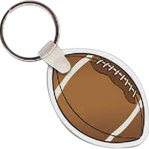 "Football Shaped Key Tag, 2.18"" W X 1.5"" H"