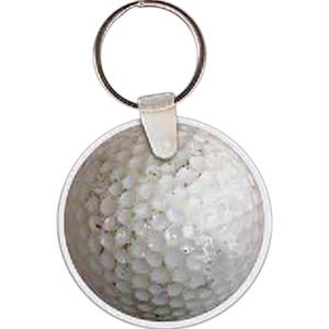 "Golf Ball Shaped Key Tag, 2"" W X 2"" H"