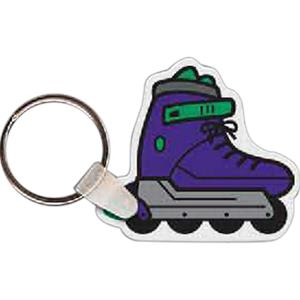 "Roller Blade Shaped Key Tag, 1.95"" W X 1.75"" H"