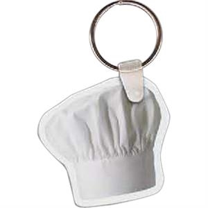 "Chef's Hat Shaped Key Tag, 1.9"" W X 1.91"" H"