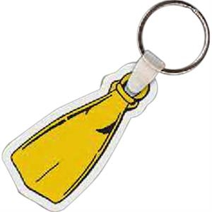 "Flipper Shaped Key Tag, 2.52"" W X 1.23"" H"