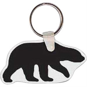"Bear Shaped Key Tag, 2.66"" W X 1.40"" H"