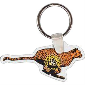 "Cheetah Shaped Key Tag, 2.52"" W X 1.24"" H"