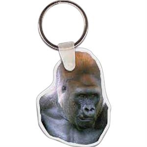 "Gorilla Shaped Key Tag, 1.59"" W X 2.1"" H"