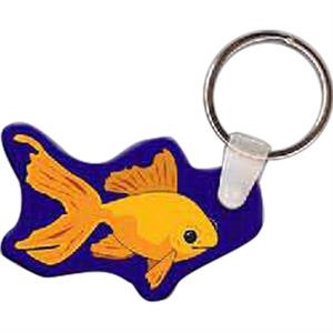 "Goldfish Shaped Key Tag, 2.16"" W X 1.5"" H"