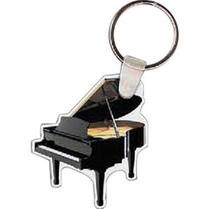 "Grand Piano Shaped Key Tag, 1.74"" W X 2.3"" H"
