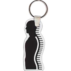 "Full Color On White Item - 1.2"" X 2.91"" - Full Color Spine Shaped Key Tag"