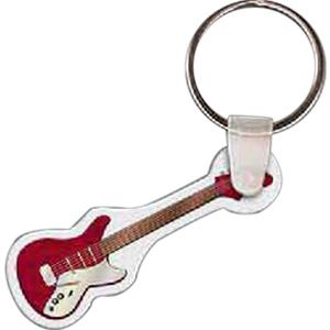 "Electric Guitar Shaped Key Tag, 1.67"" W X 1.92"" H"