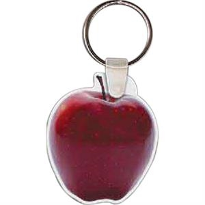 "Apple Shaped Key Tag, 1.7"" W X 2.01"" H"