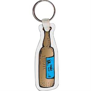 "Beer Bottle Shaped Key Tag, 1.1"" W X 3.14"" H"