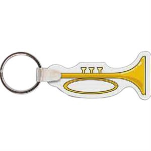 "Trumpet Shaped Key Tag, 2.58"" W X 1.19"" H"