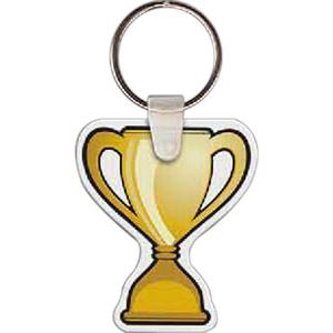 "Trophy Shaped Key Tag, 1.7"" W X 2"" H"